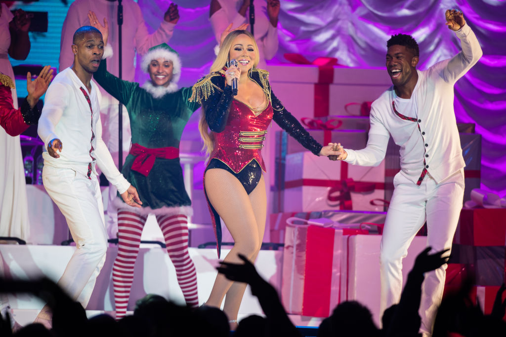 Mariah Carey performs live during her All I Want For Christmas Is You tour at Motorpoint Arena on December 09, 2018 in Nottingham, England. (Photo by Samir Hussein/Samir Hussein/WireImage)
