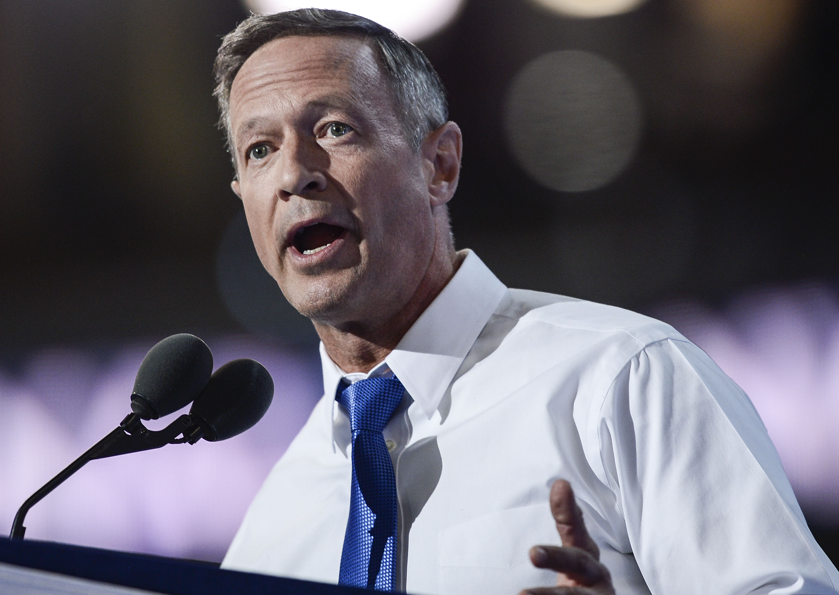 Former Maryland Governor Martin O'Malley speaks during the third day of the Democratic National Convention at the Wells Fargo Center in Philadelphia, PA, on July 27, 2016.