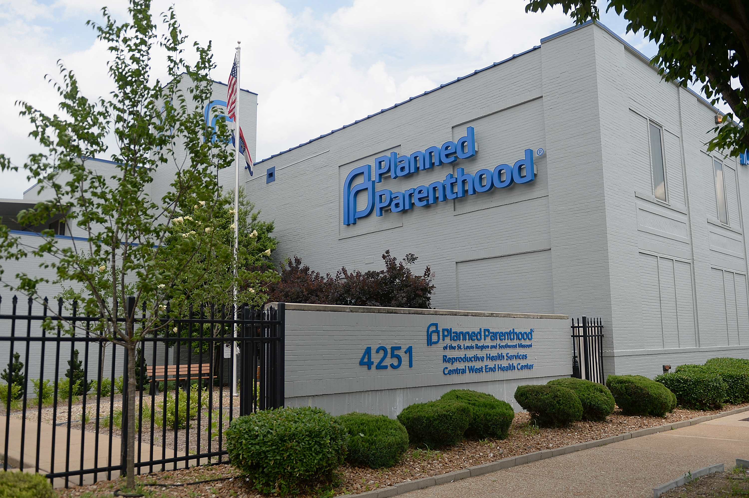 Planned Parenthood Reproductive Health Services Center, the last remaining abortion clinic in Missouri, is seen on May 28, 2019 in St Louis.