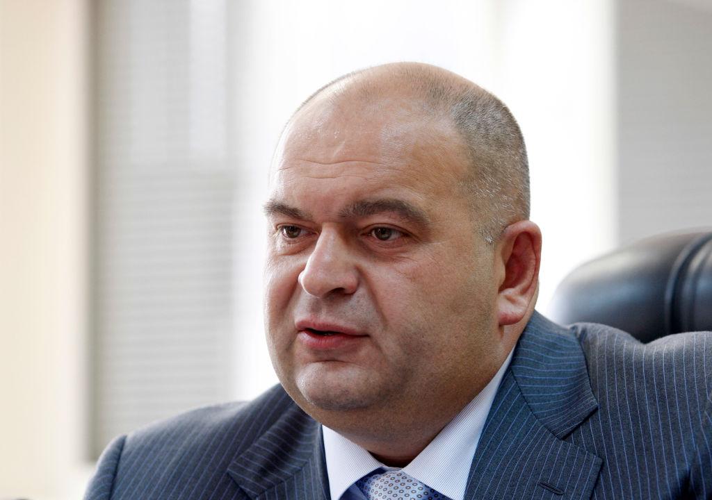 Ukrainian businessman and founder of the Burisma Holdings company, Mykola Zlochevsky at a media conference on Sept. 24, 2019