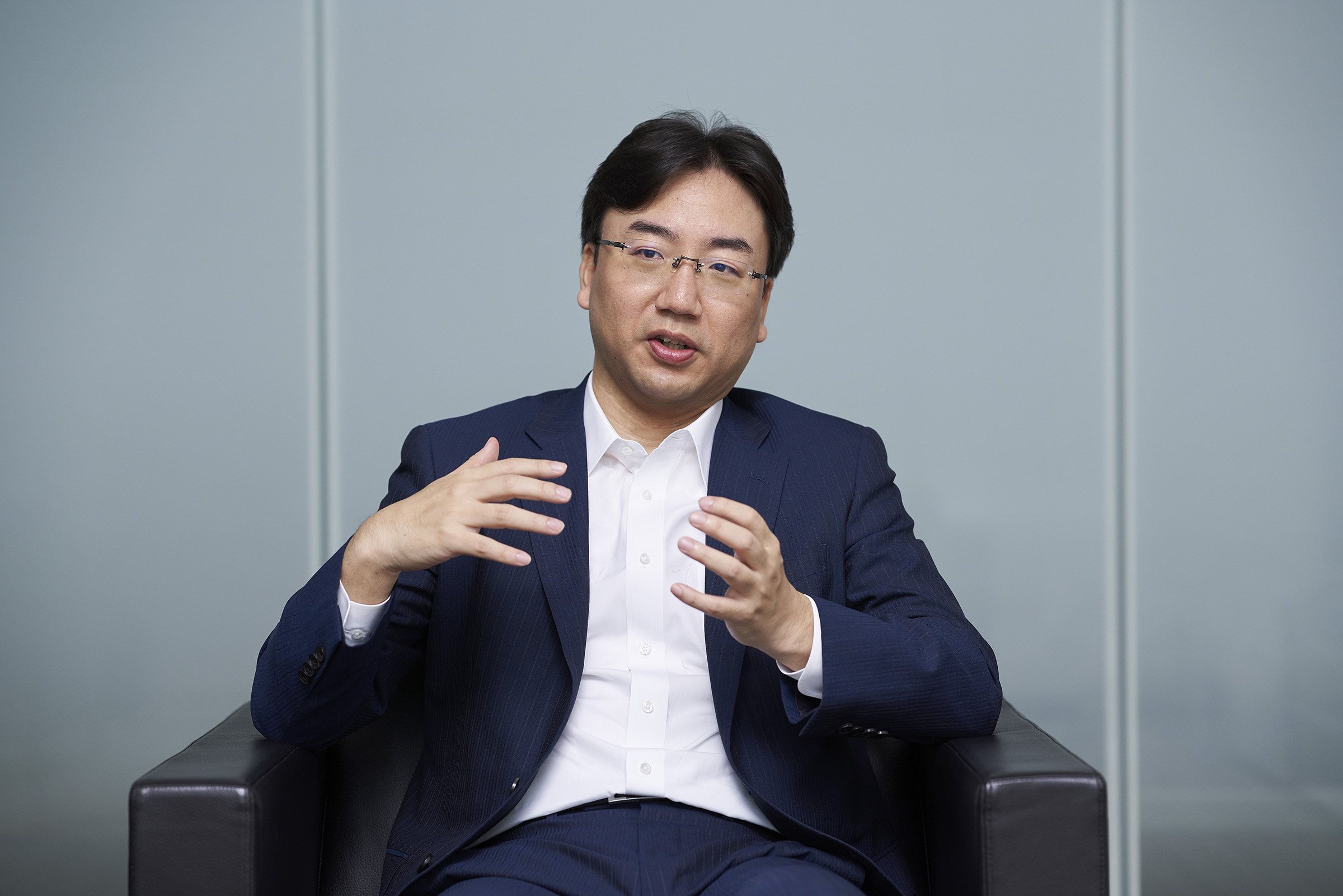 Shuntaro Furukawa, President of Nintendo Co., Ltd., photographed at Nintendo's global headquarters in Kyoto, Japan, on Oct. 10, 2019.