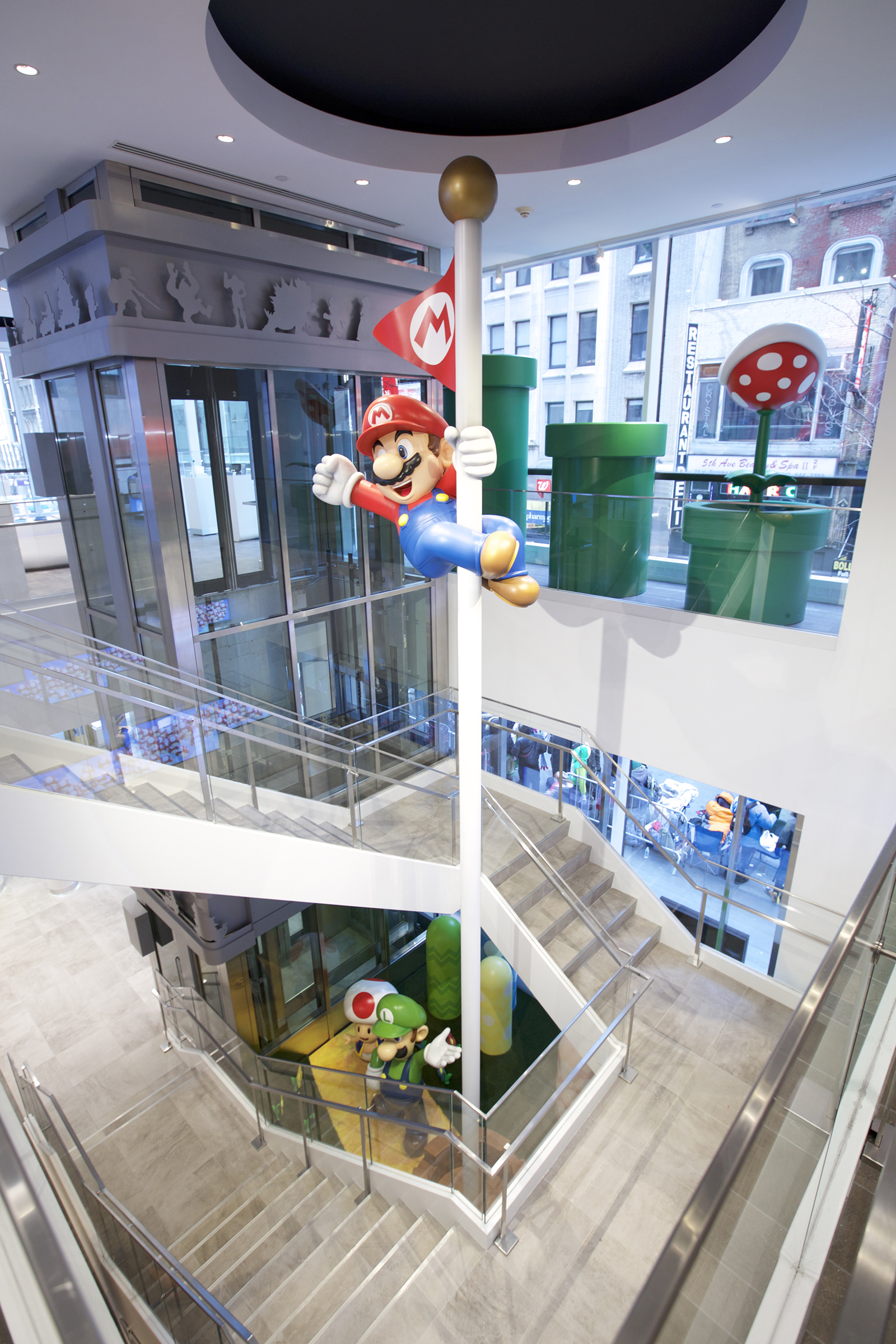 The official Nintendo store in New York City.