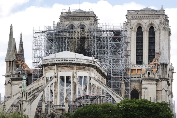 Notre Dame construction after fire.