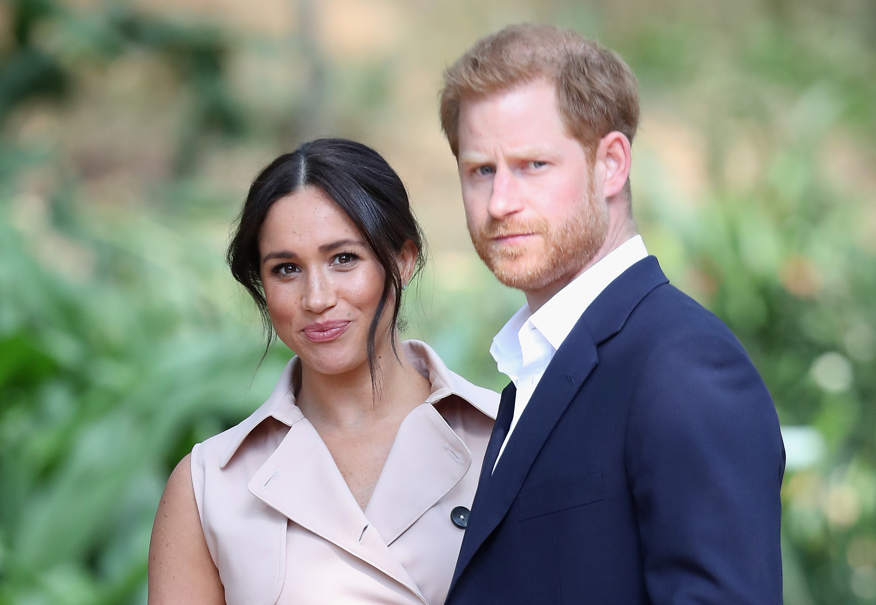 Prince Harry, Duke of Sussex and Meghan Markle, Duchess of Sussex on October 02, 2019 in Johannesburg, South Africa.