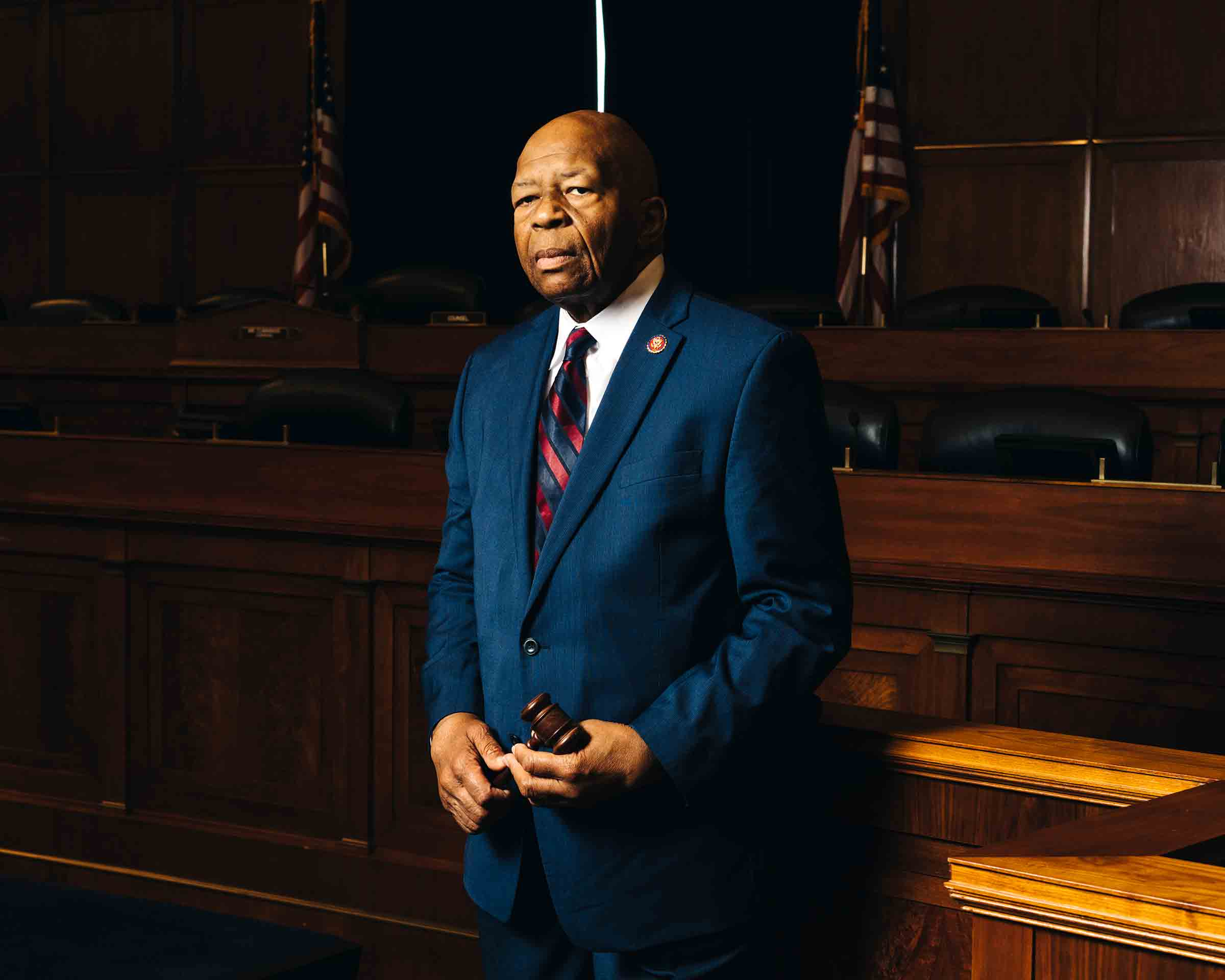 Cummings in the House Oversight Committee hearing room in Washington on May 2