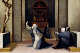 Saint Catherine of Siena Receiving the Stigmata by Domenico Beccafumi