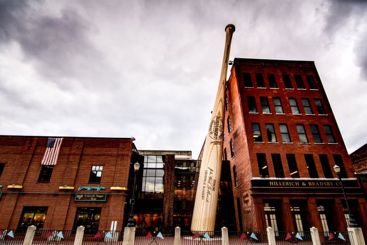 Bat outside of the Louisville Slugger Museum and Factory in Kentucky