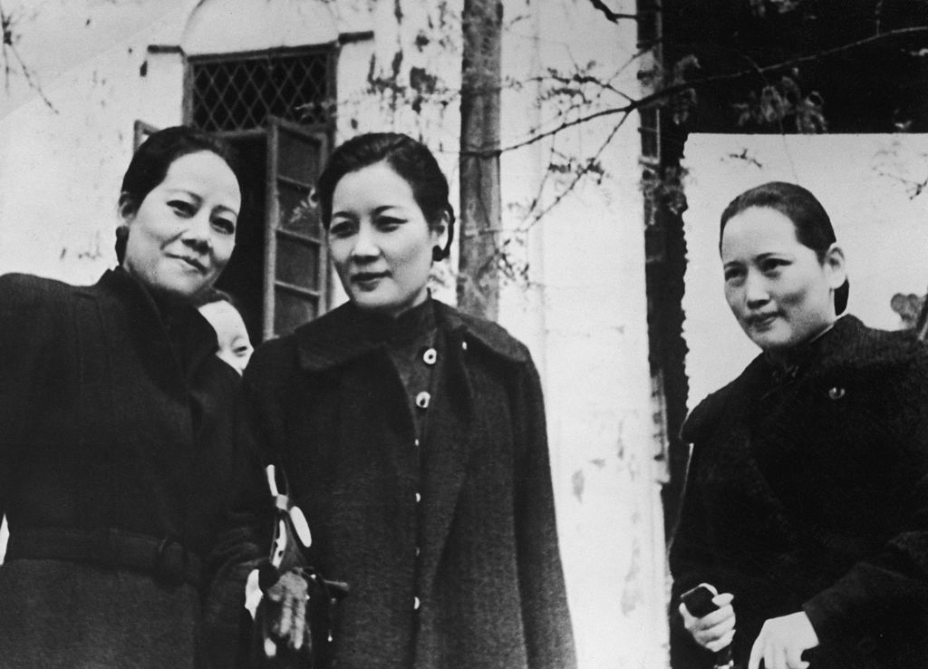 The Soong sisters, left to right: Soong Ei-ling (1890 - 1973), Soong May-ling (1897 - 2003) and Soong Ching-ling (1893 - 1981) in Chongqing (Chunking), China, 1940. The sisters were uniquely influential in Chinese politics in the early 20th Century, with Ai-ling marrying banker and finance minister H. H. Kung, May-ling working with and marrying Chinese Nationalist leader Chiang Kai-shek and Ching-ling marrying first President of the Republic of China, Sun Yat-sen.