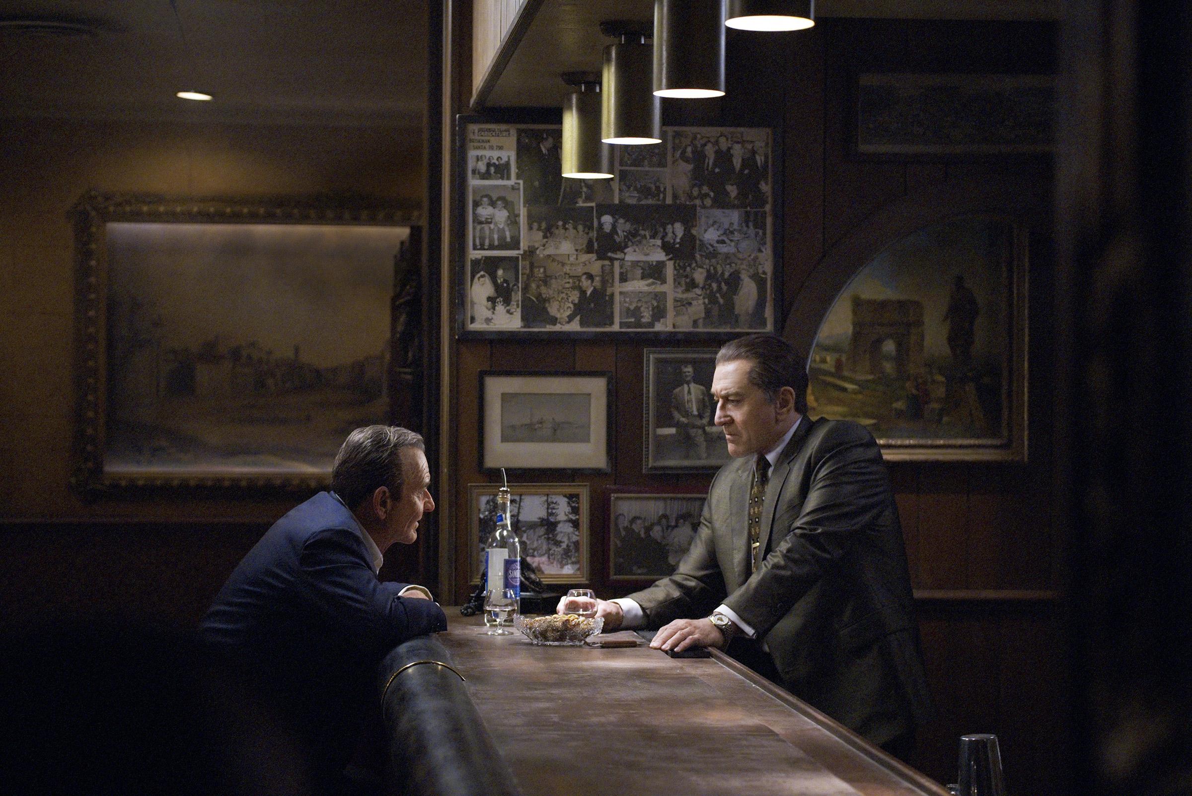 Joe Pesci and Robert De Niro in Martin Scorsese's Mob masterpiece The Irishman.