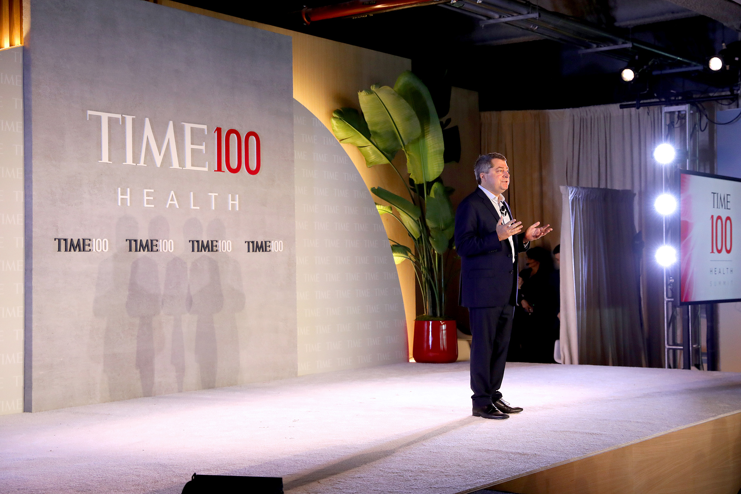 Editor-in-Chief & CEO at TIME, Edward Felsenthal, speaks onstage during the TIME 100 Health Summit at Pier 17 in New York City on Oct. 17, 2019.