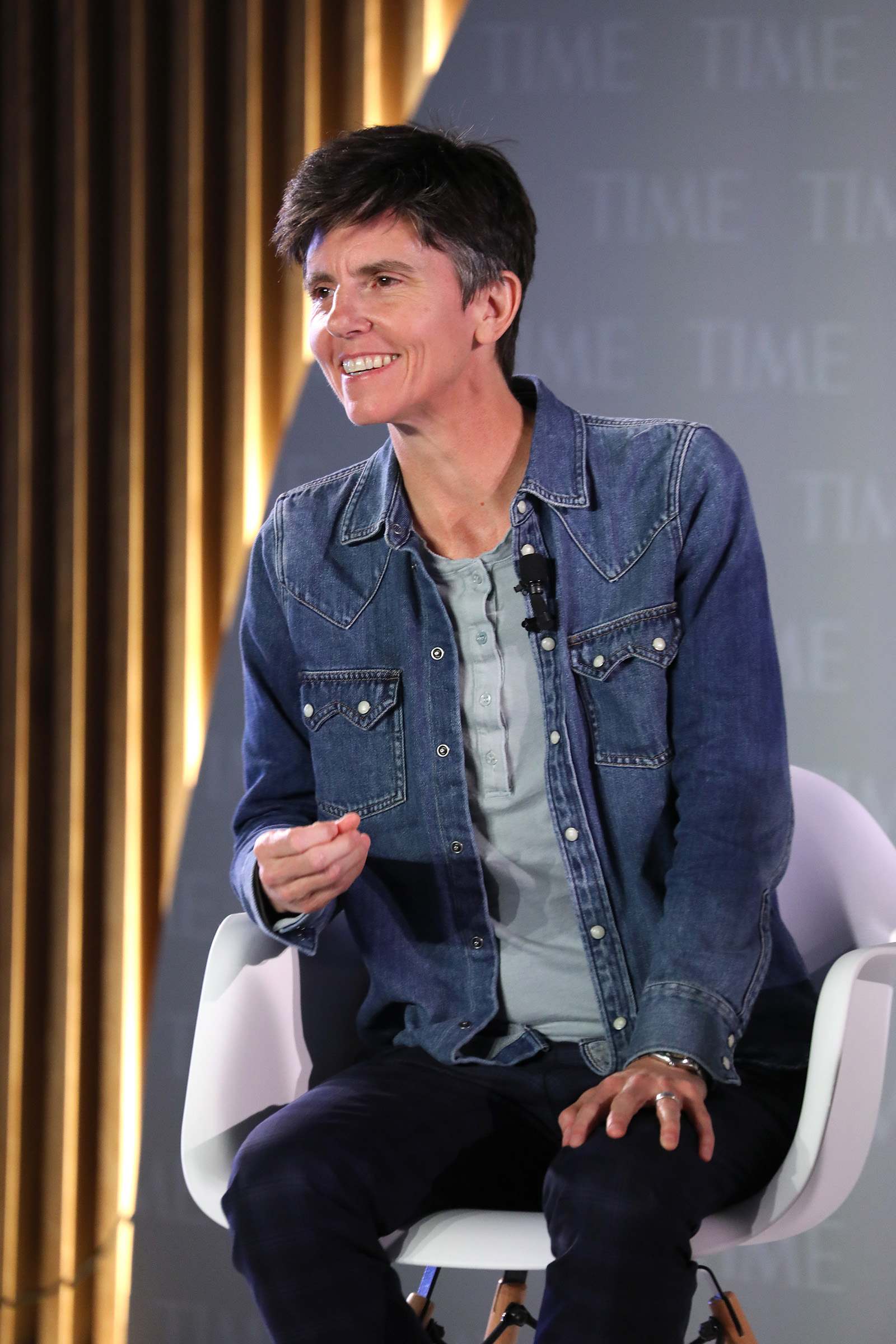 Comedian Tig Notaro speaks onstage during the TIME 100 Health Summit at Pier 17 in New York City on Oct. 17, 2019.