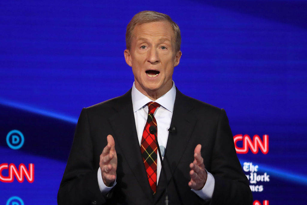 Image result for tom steyer democratic debate