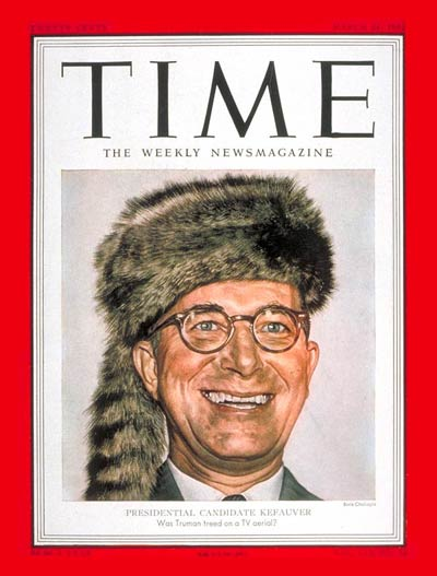 Estes Kefauver on the Mar. 24, 1952, cover of TIME