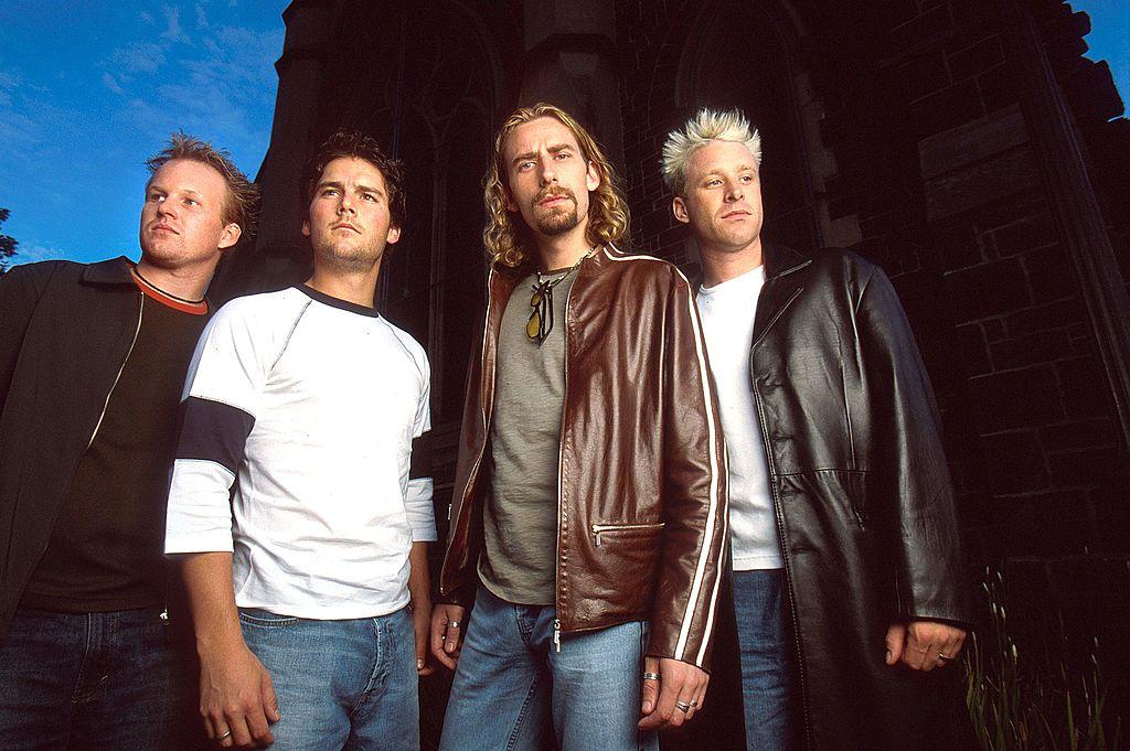 Nickelback, circa 2001. L to R: Ryan Vikedal, Ryan Peake, Chad Kroeger, Mike Kroeger.