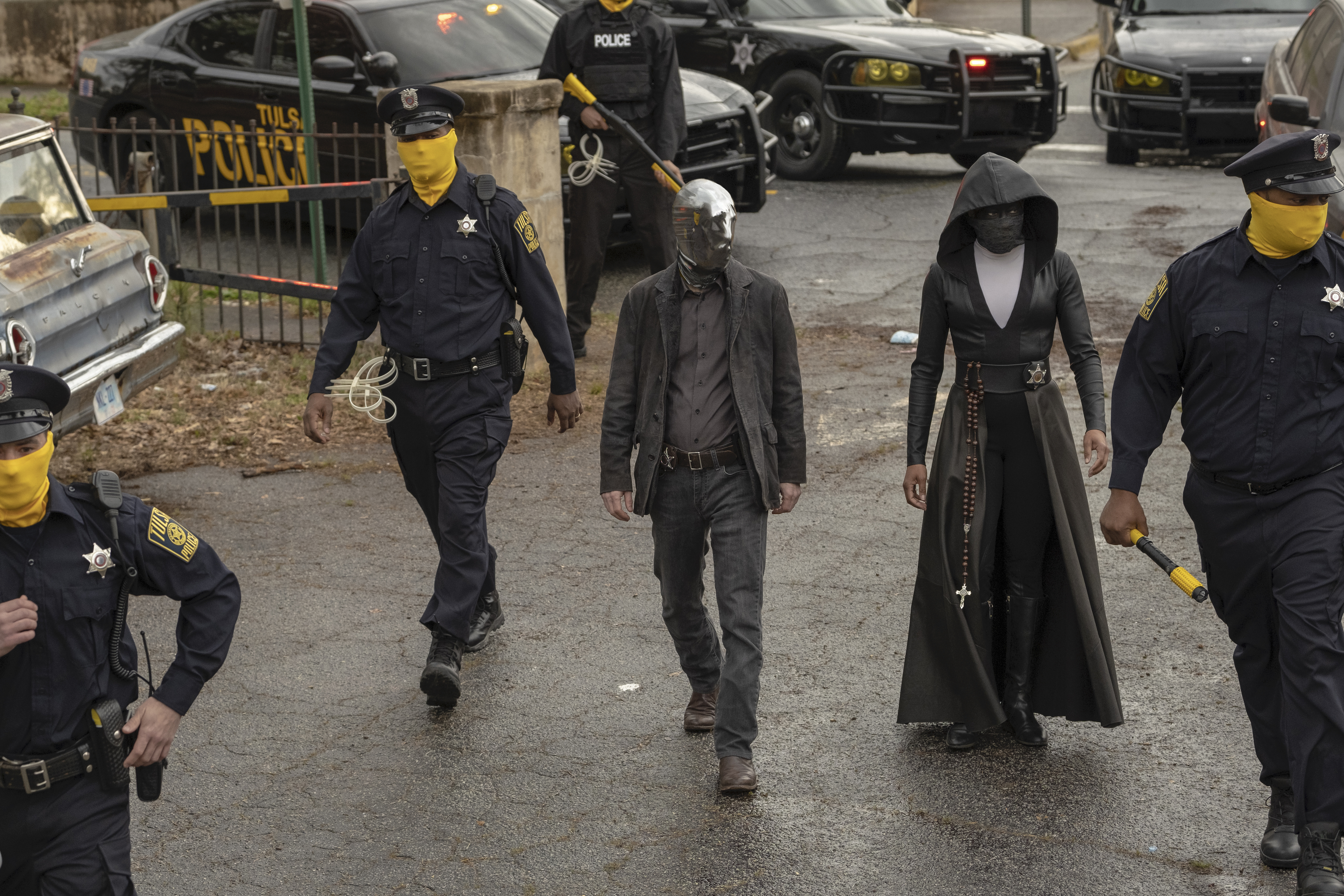 Regina King and Tim Blake Nelson in HBO's Watchmen