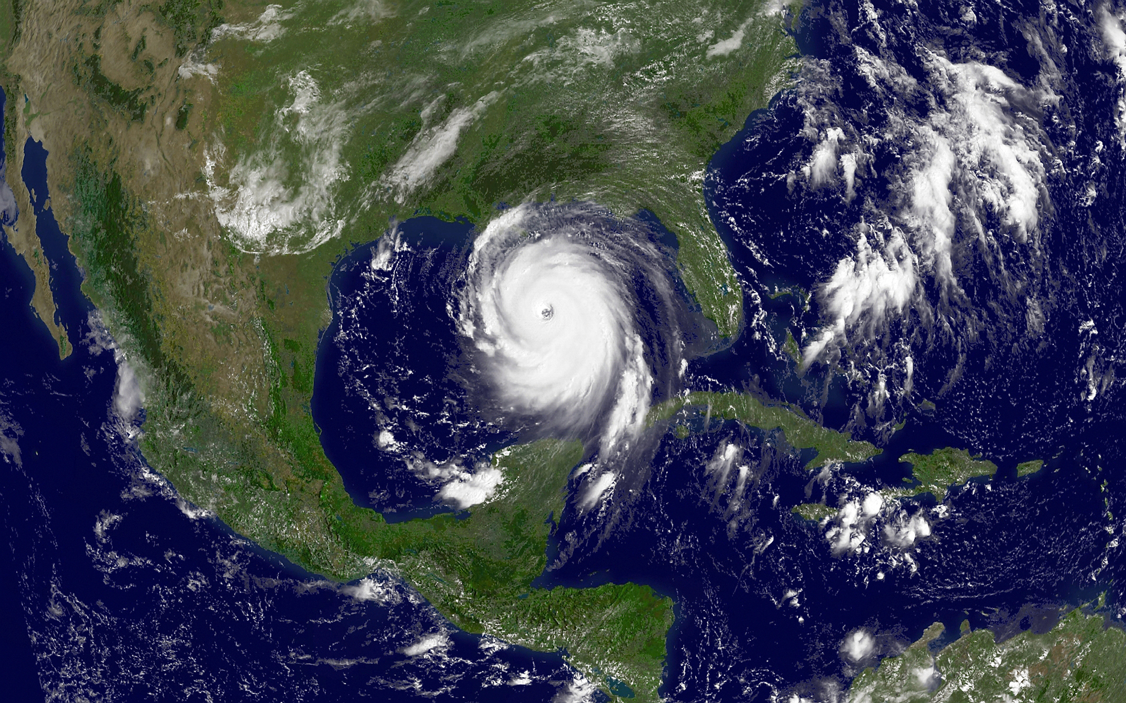 Hurricane Katrina in the Gulf of Mexico on Aug. 28, 2005.