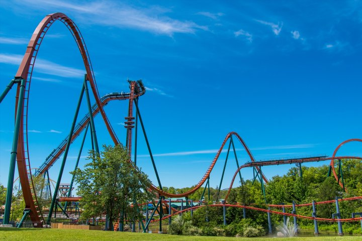 The Yukon Striker rollercoaster at Canada's Wonderland.
