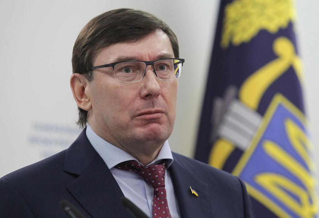 Former Prosecutor General Yuriy Lutsenko speaks during a press conference in Kiev, Ukraine, on March 7, 2019.