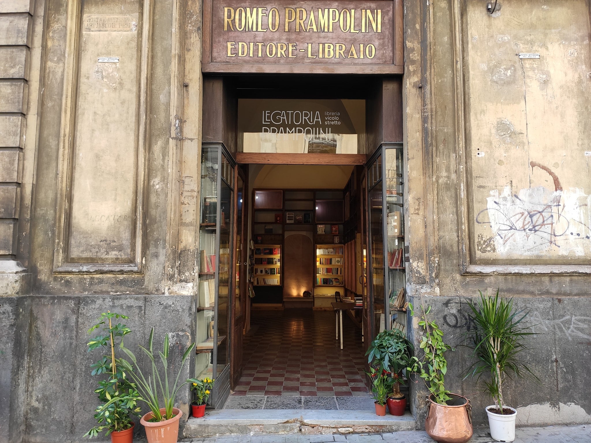 Legatoria Prampolini, a bookstore and cultural hub in Catania, Sicily.