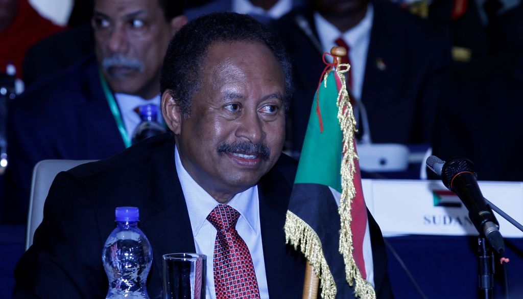 Sudan's Prime Minister Abdalla Hamdok attends Intergovernmental Authority on Development (IGAD) Heads of state meeting in Addis Ababa, Ethiopia on November 29, 2019.