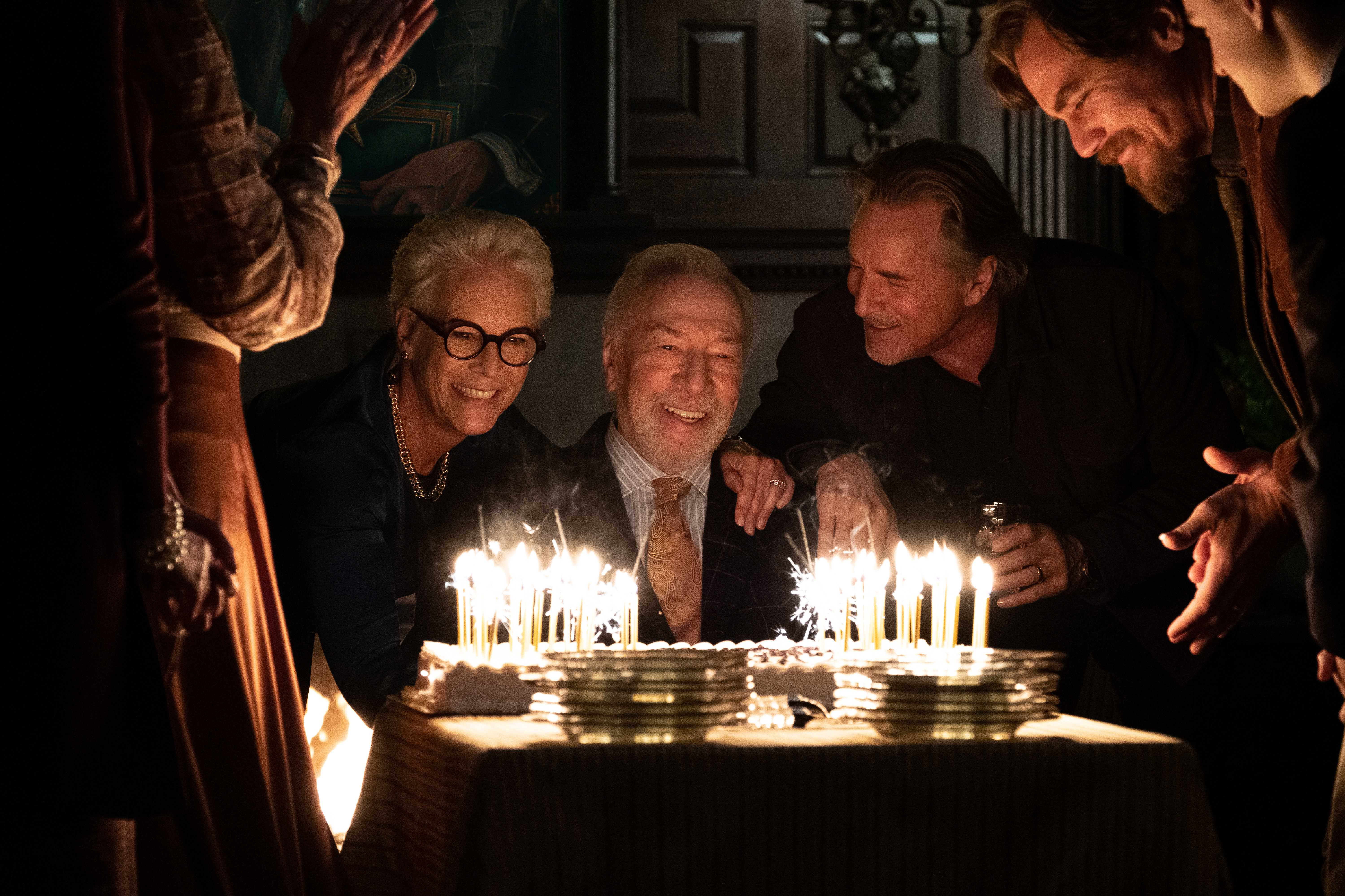 Jamie Lee Curtis, Christopher Plummer, Don Johnson and Michael Shannon in 'Knives Out.'