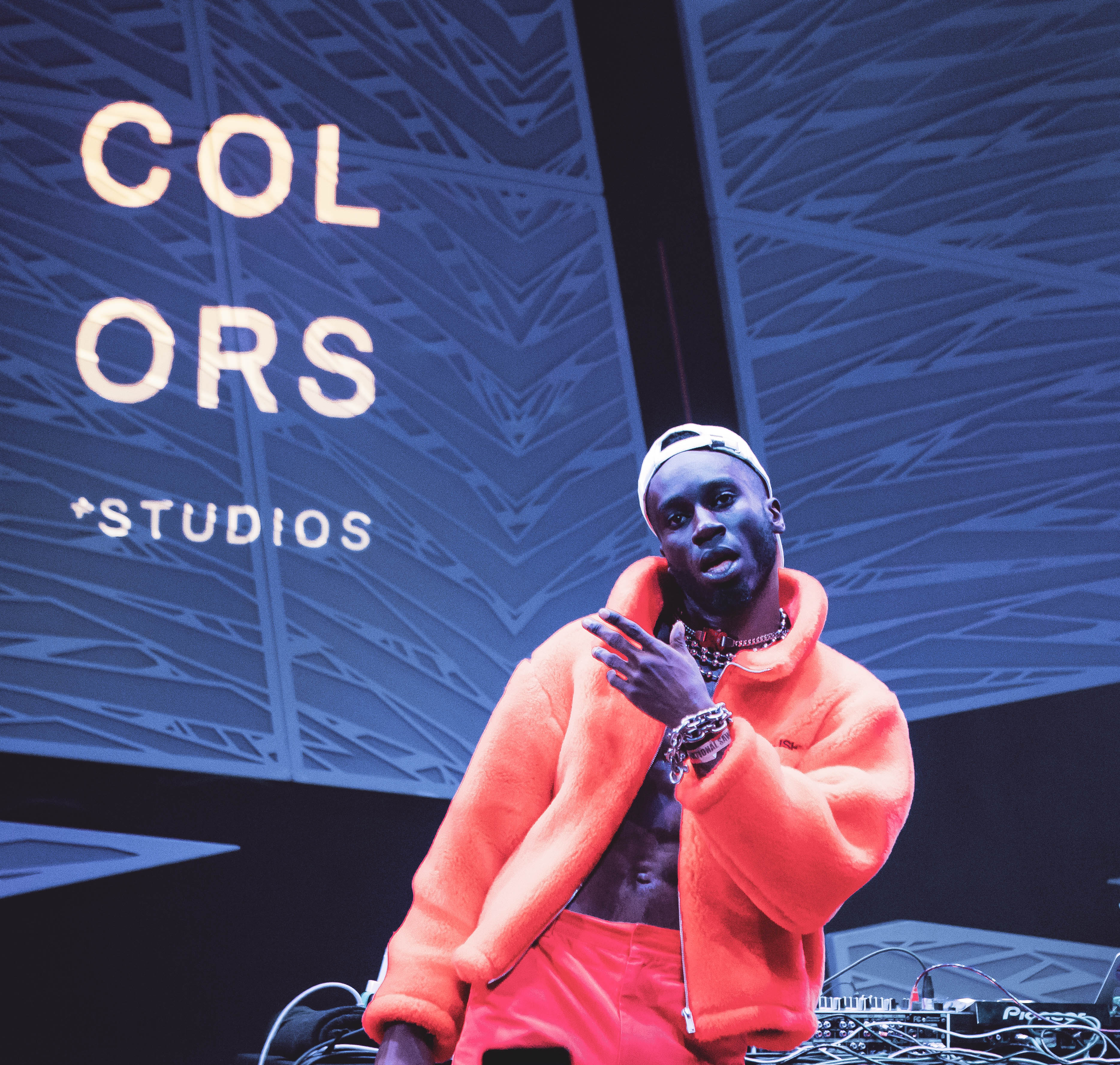 The rapper Kojey Radical at a COLORS Studios show at National Sawdust in Brooklyn in November.