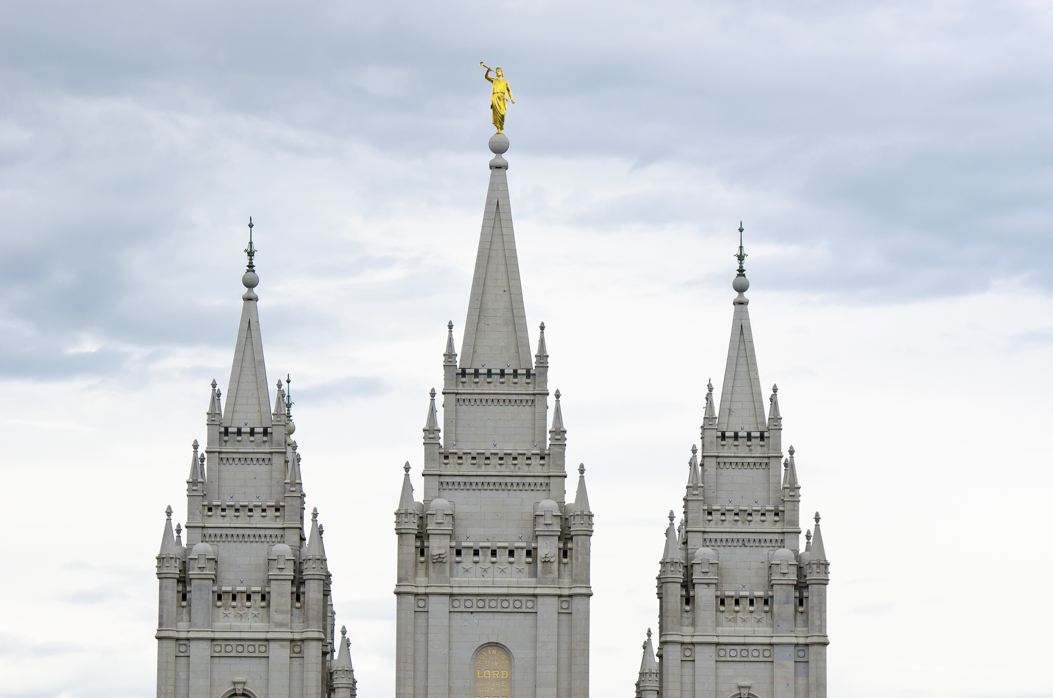 Church of the Latter-day Saints temple in Salt Lake City