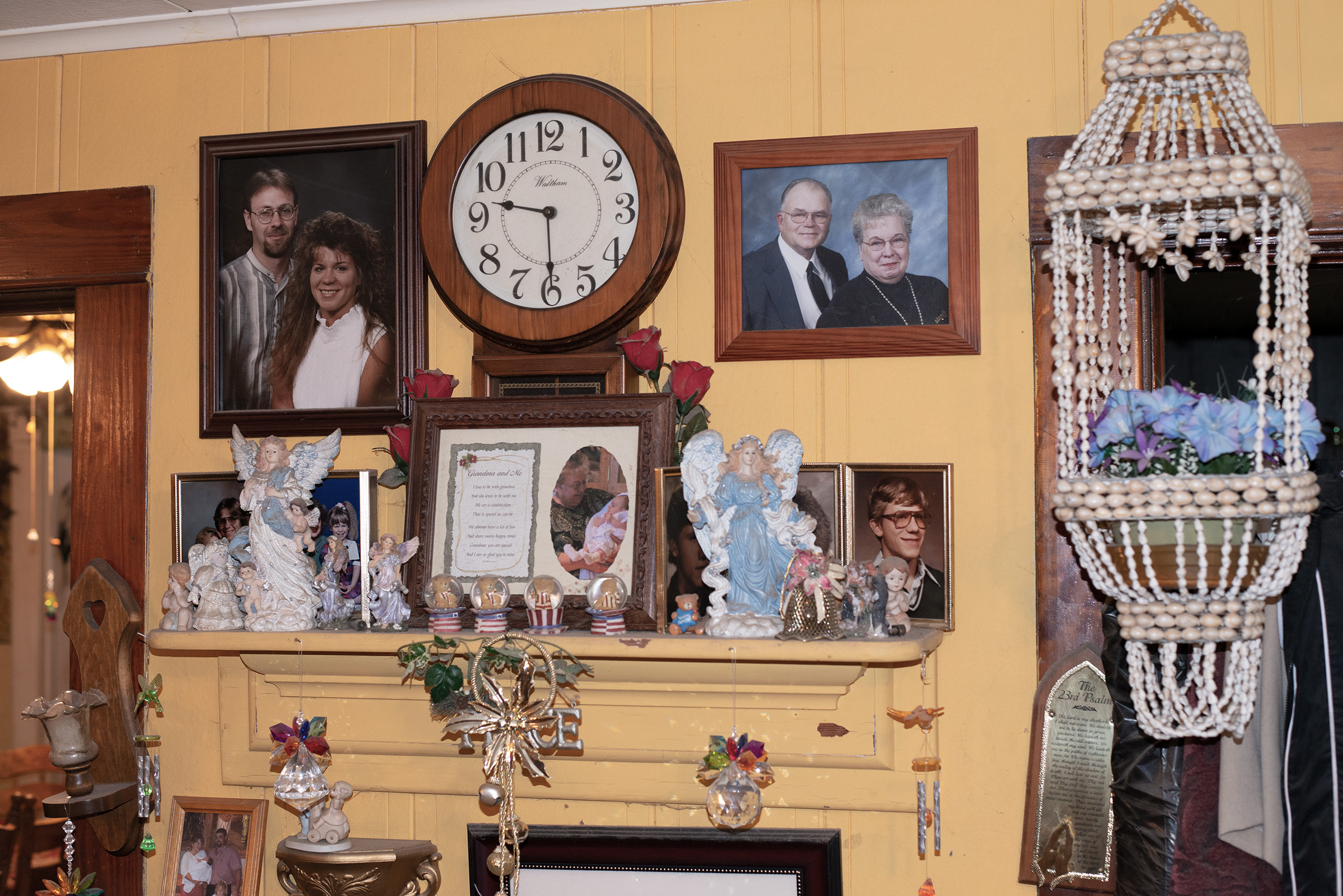 The Rieckmann's mantle in their home in Fremont, Wisconsin, on Nov. 20, 2019.