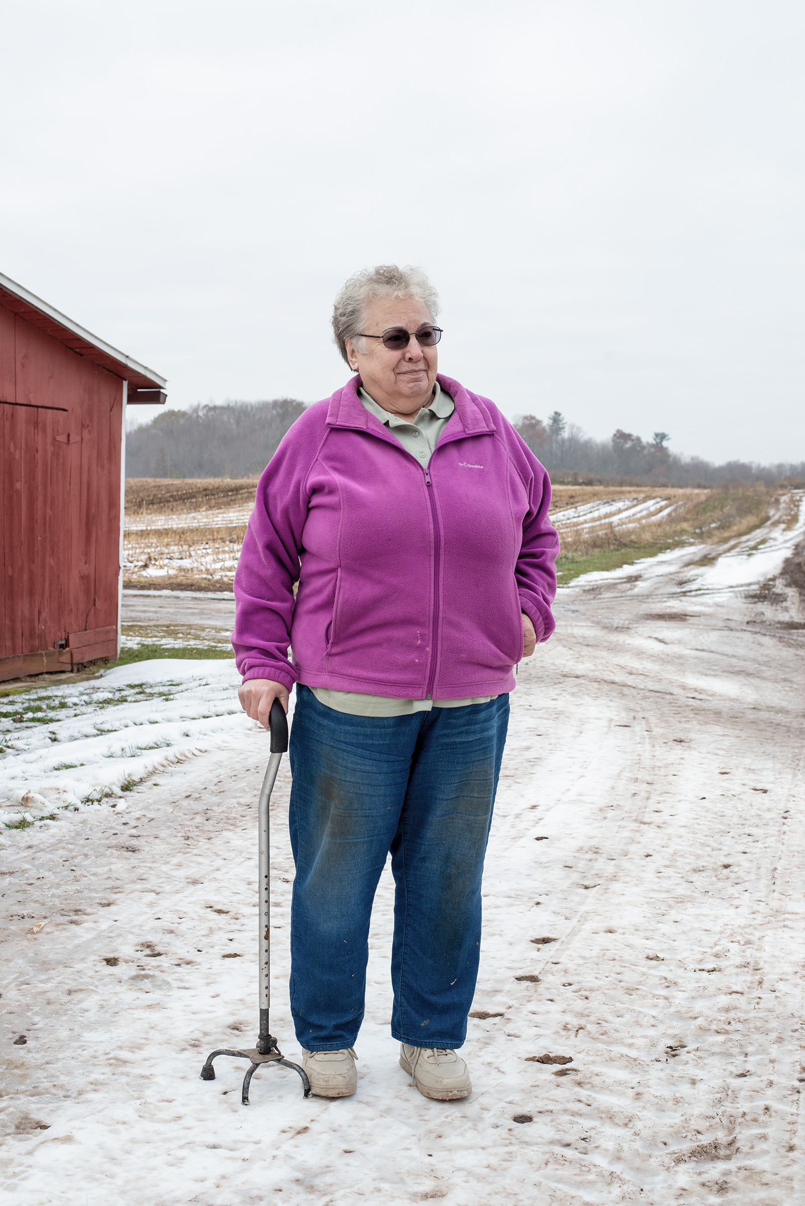 Mary Rieckmann on her farm in Fremont, Wisconsin, on Nov. 20, 2019.