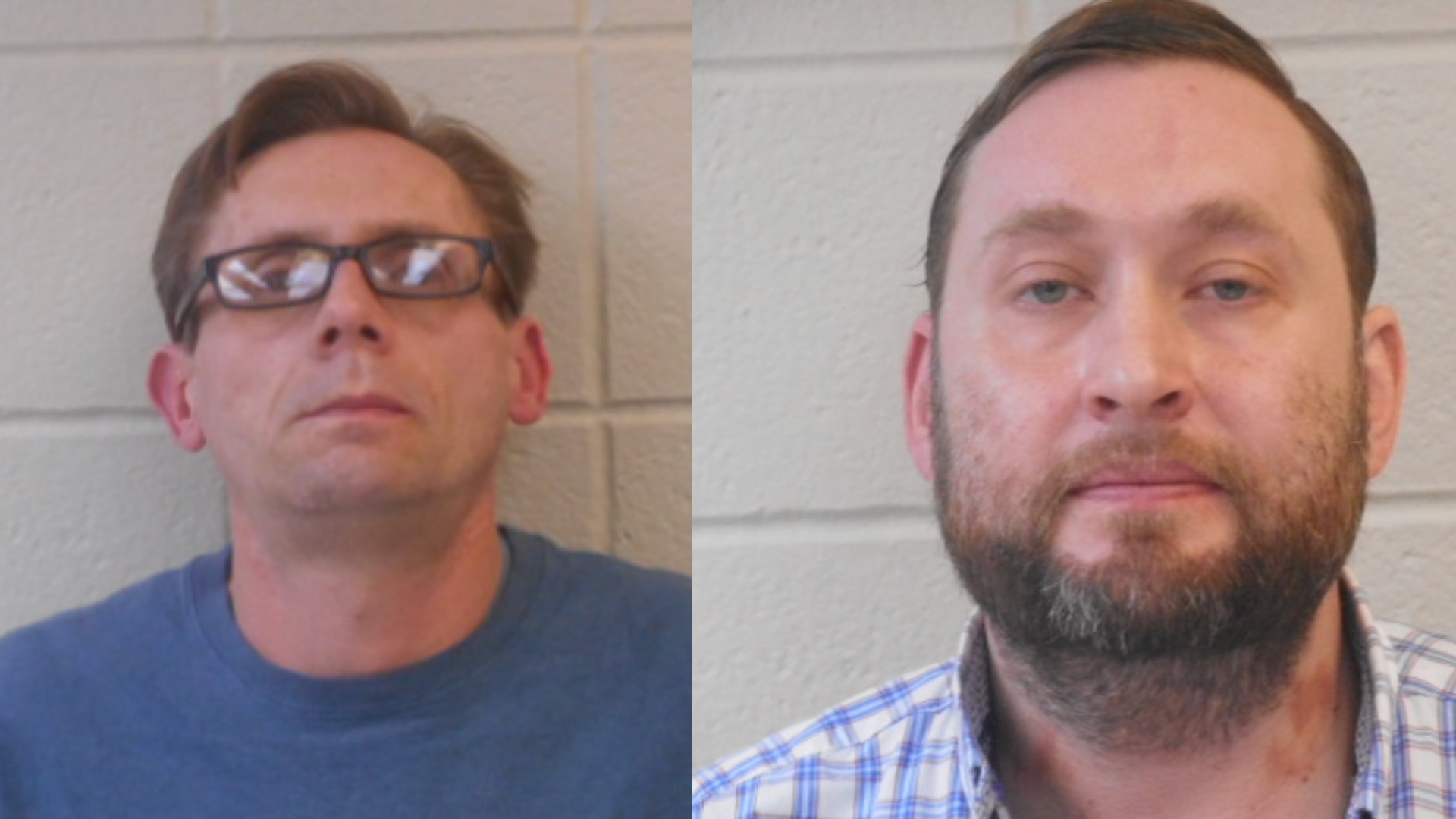 Two Arkansas chemistry professors — Terry David Bateman (left) and Bradley Allen Rowland (right) — were arrested for allegedly making methamphetamine and using drug paraphernalia.