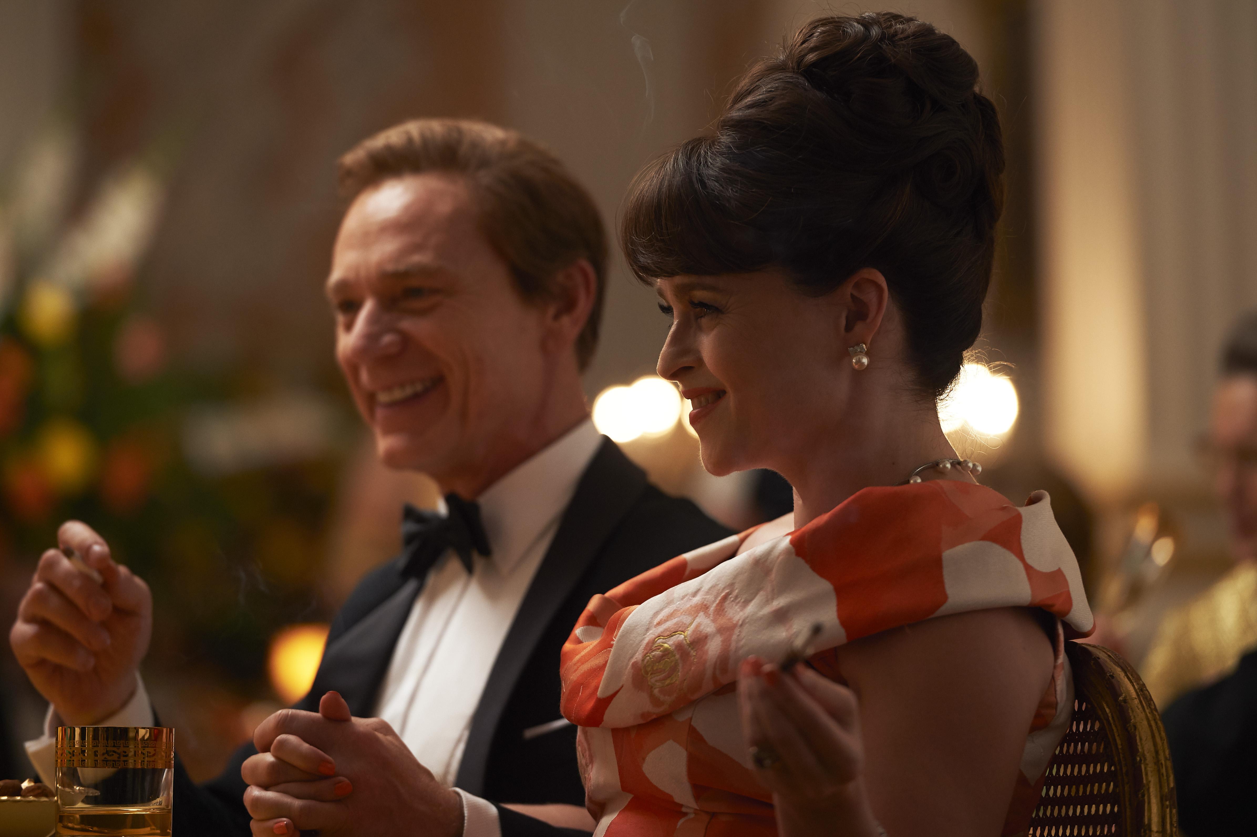 Ben Daniels as Antony Armstrong-Jones and Helena Bonham Carter as Princess Margaret in Netflix's 'The Crown'