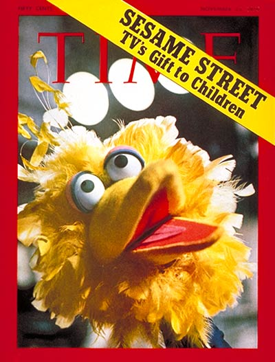 Big Bird on the cover of the Nov. 23, 1970 issue of TIME Magazine