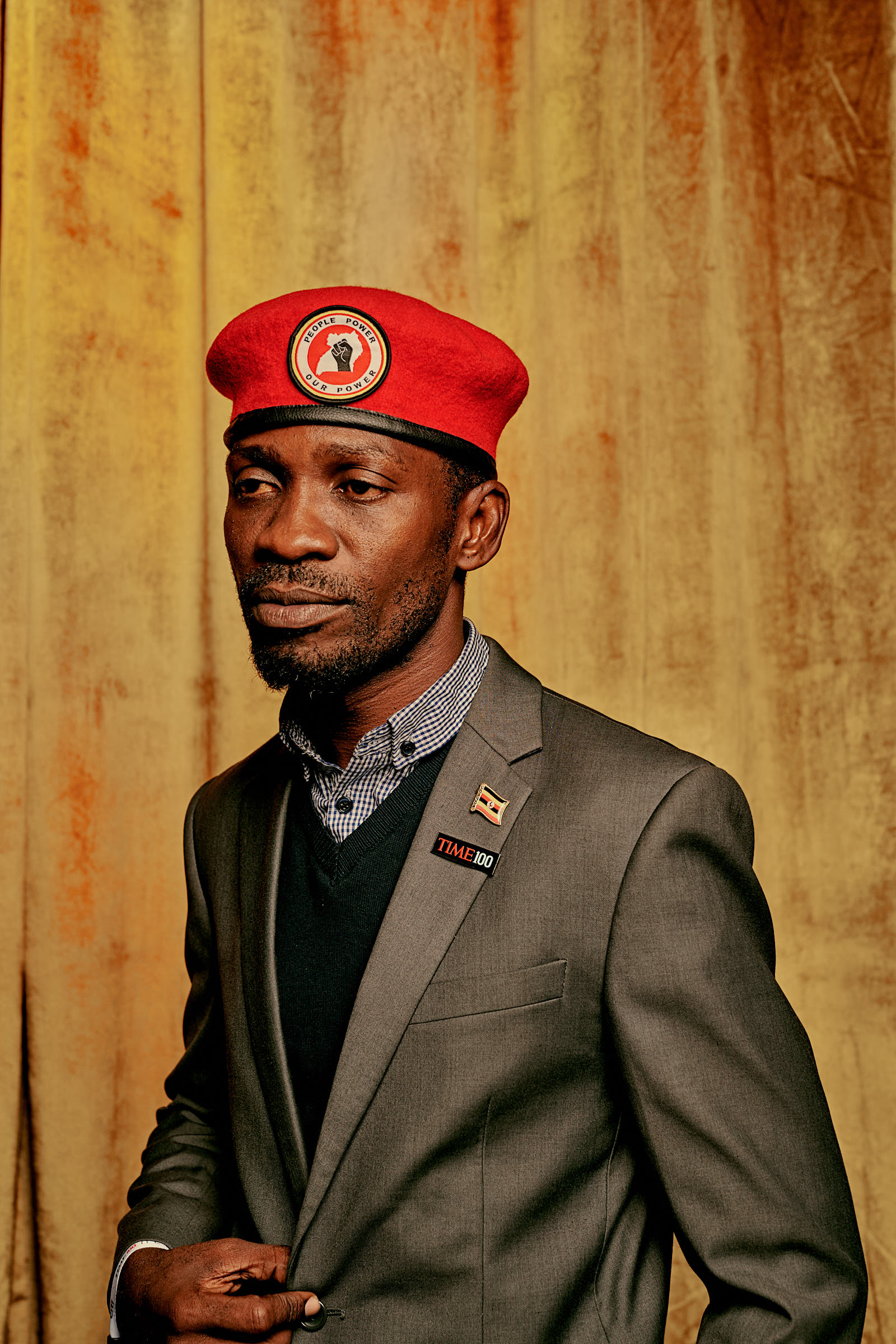 Bobi Wine, Ugandan Politician, businessman, philanthropist, musician, and actor attends the TIME 100 Next event at Pier 17 in New York on Nov. 14, 2019.