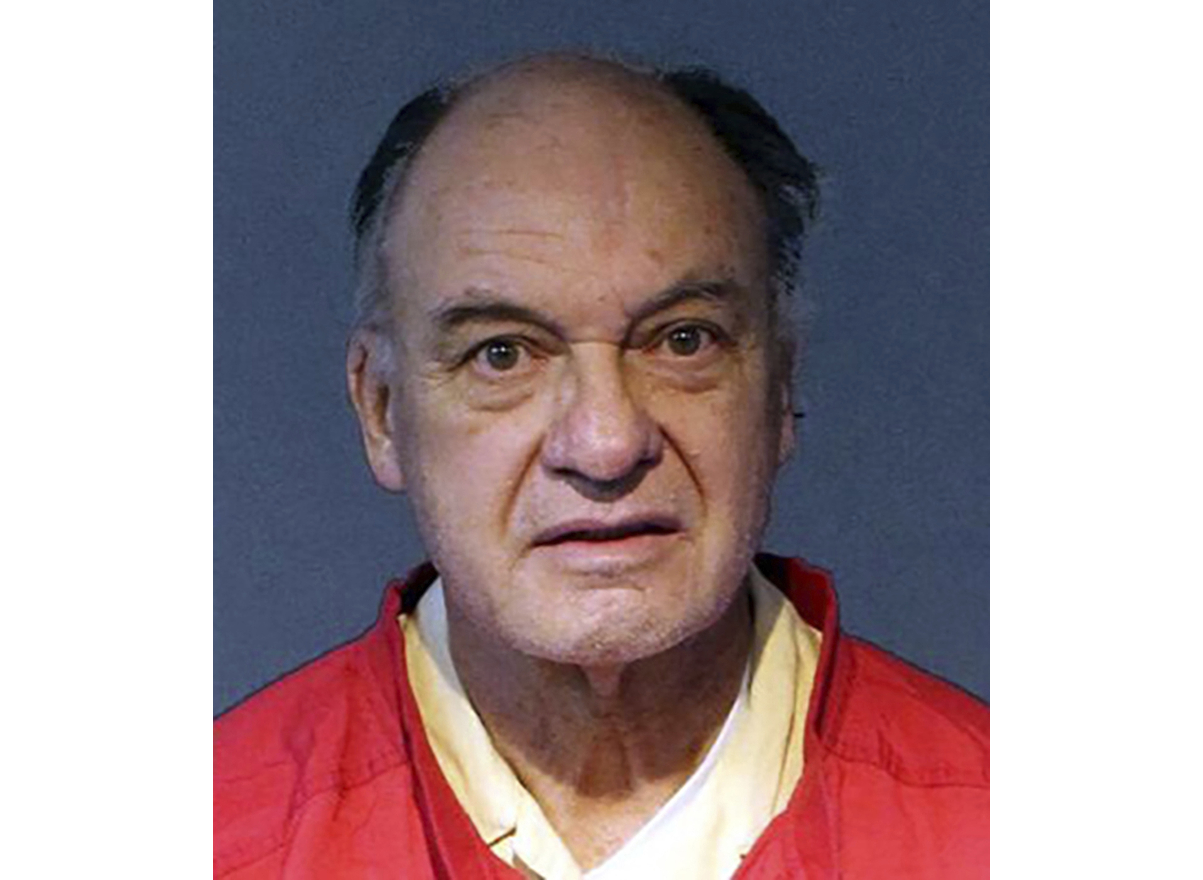 This undated photo provided by the Washoe County Sheriff's Office shows Charles Gary Sullivan, 73, of Flagstaff, Ariz., following his booking on Nov. 15, 2019, into the Washoe County Jail in Reno, Nev.