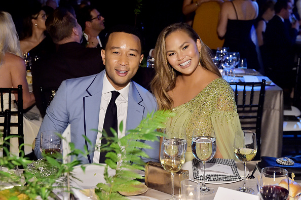 John Legend and Chrissy Teigen attend the 2019 Baby2Baby Gala presented by Paul Mitchell in Los Angeles, California on November 09, 2019.
