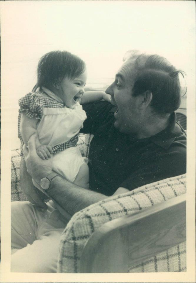The author and her father in the early 1980s.