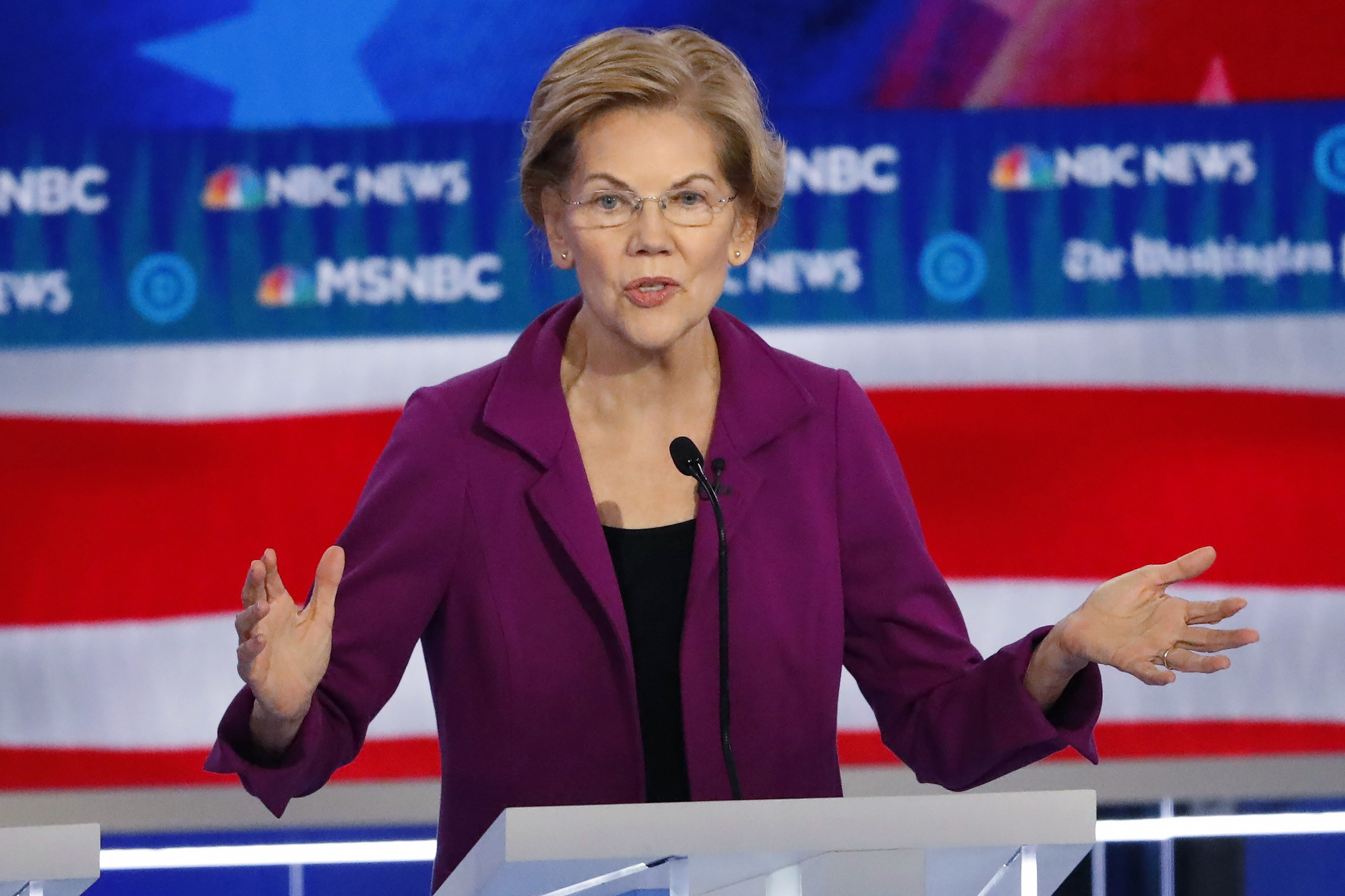 Democratic presidential candidate Sen. Elizabeth Warren, D-Mass., speaks during a Democratic presidential primary debate in Atlanta in Nov. 20, 2019.