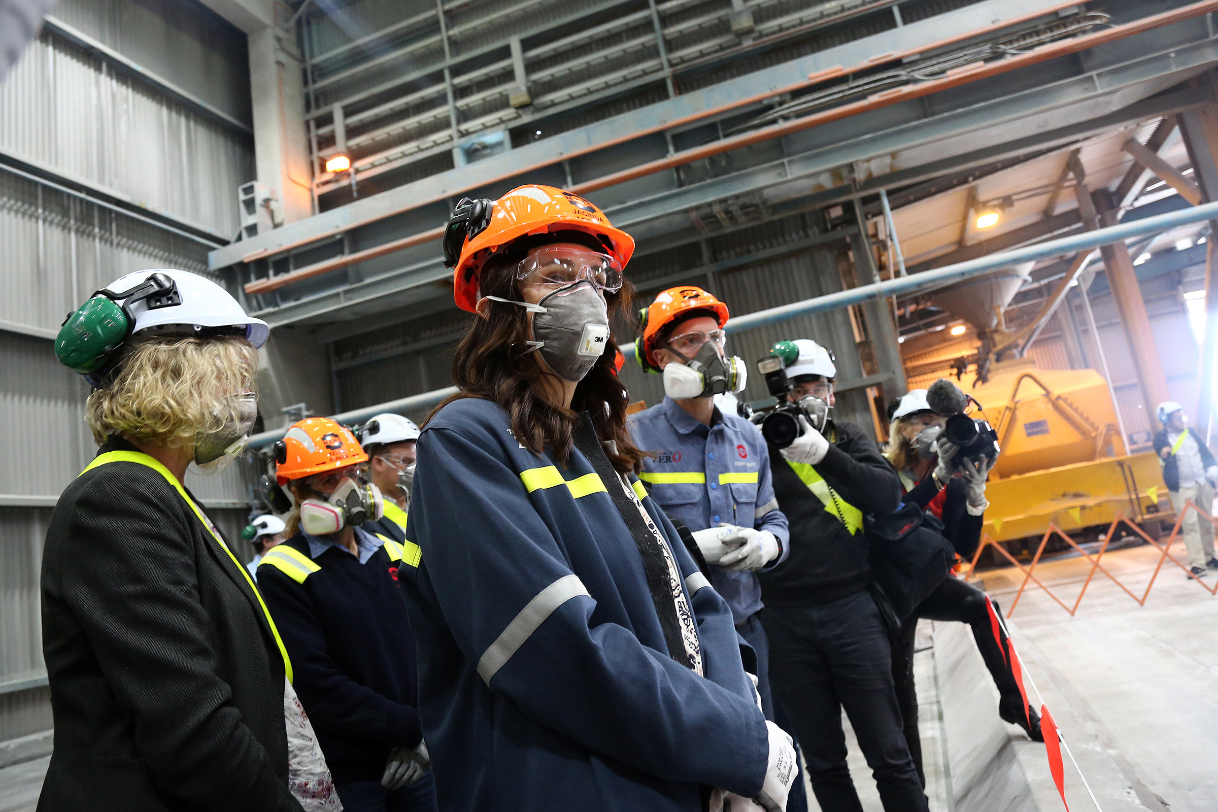 Prime Minister Jacinda Ardern visits Tiwai Point Aluminium Smelter  in Invercargill, New Zealand on Dec. 06, 2018.