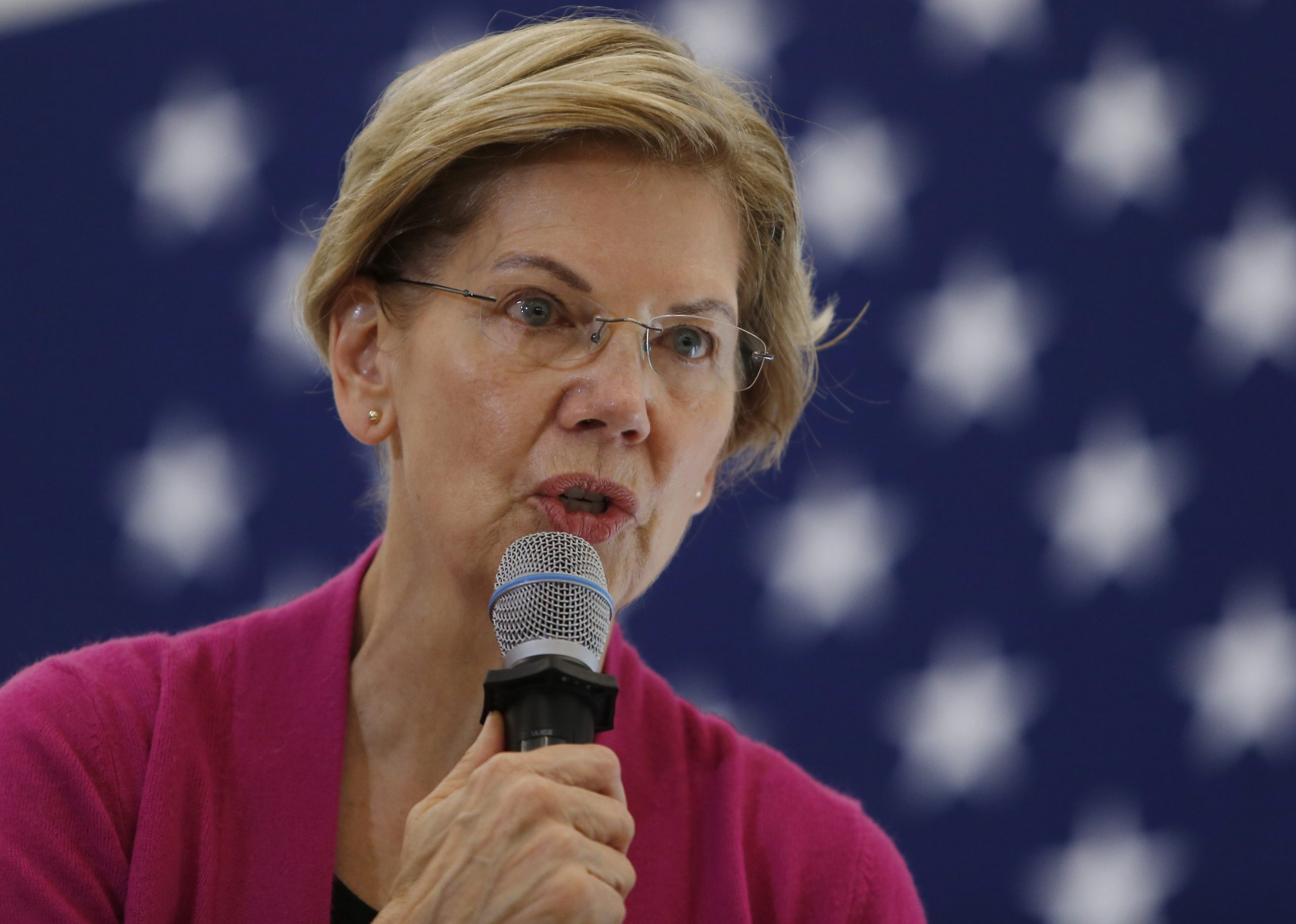 Senator and presidential candidate Elizabeth Warren speaks during a town hall at the University of New Hampshire in Durham, NH on Oct. 30, 2019.