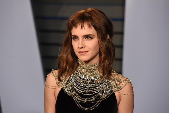 Emma Watson attends the 2018 Vanity Fair Oscar Party Hosted By Radhika Jones in Beverly Hills, Calif., on March 4, 2018.