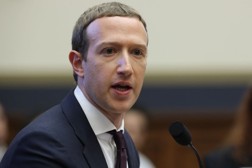 Facebook co-founder and CEO Mark Zuckerberg testifies before the House Financial Services Committee in Washington, D.C. on October 23, 2019