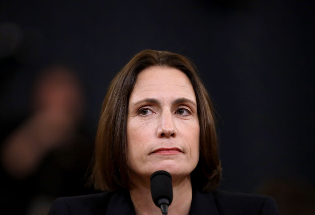Fiona Hill, the National Security Council's former senior director for Europe and Russia testifies before the House Intelligence Committee in the Longworth House Office Building on Capitol Hill November 21, 2019.