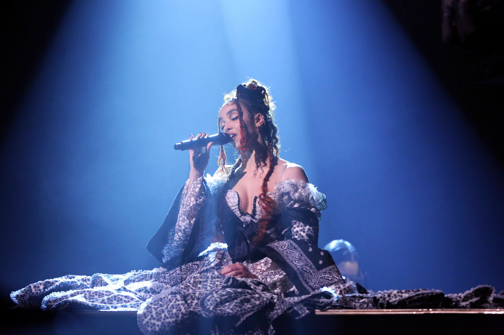 Musical guest FKA twigs performs on October 30, 2019.