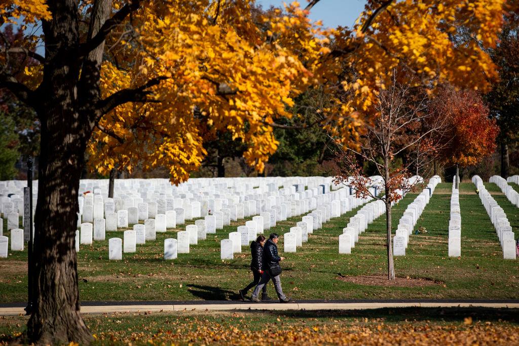 Arlington National Cemetery on Nov. 11, 2018, Veterans Day, in Arlington, Va.