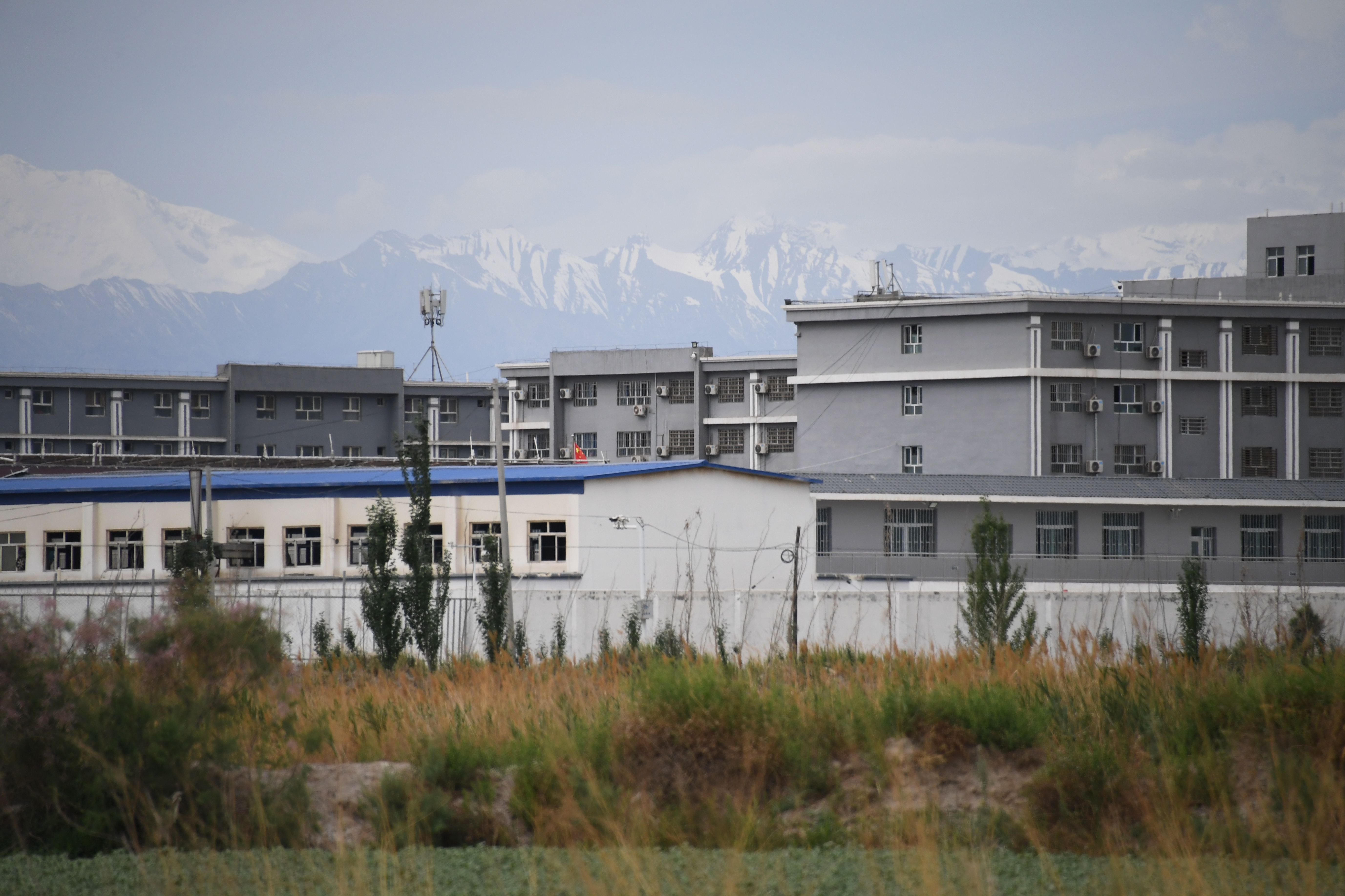 This photo taken on June 4, 2019 shows a facility believed to be a re-education camp where mostly Muslim ethnic minorities are detained, north of Akto in China's northwestern Xinjiang region.