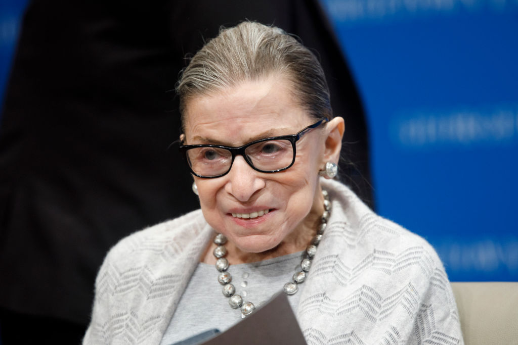 Supreme Court Justice Ruth Bader Ginsburg delivers remarks at the Georgetown Law Center on September 12, 2019, in Washington, D.C.