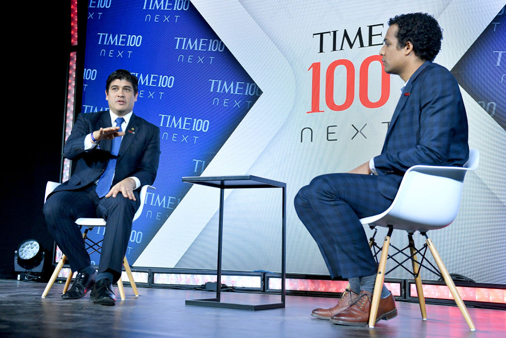 President of Costa Rica Carlos Alvarado Quesada speaks onstage during TIME 100 Next 2019 at Pier 17 on Nov. 14, 2019 in New York City.