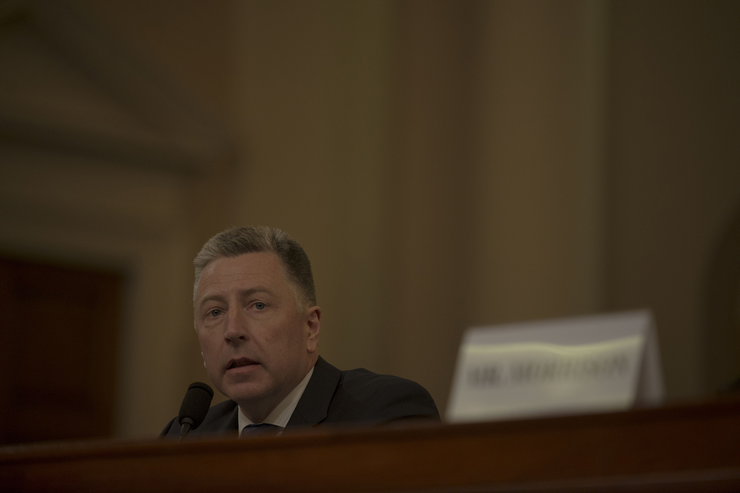 Ambassador Kurt Volker testifies during the House Intelligence Committee hearing on the impeachment inquiry on Capitol Hill in Washington, D.C. on Nov. 19, 2019.