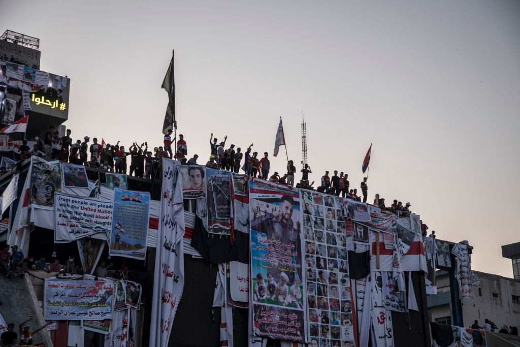 Anti-government protesters in Baghdad, Iraq, on Nov. 6.