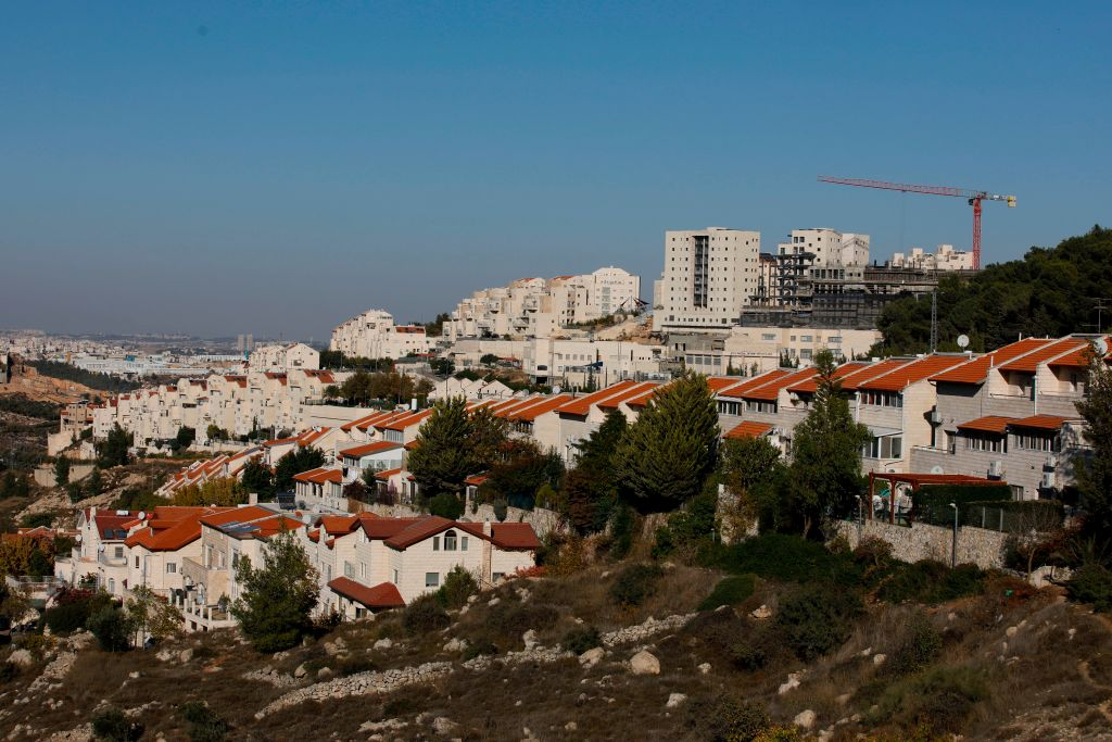 A picture taken on November 19, 2019 shows a general view of the Israeli settlement of Efrat near the Palestinian city of Bethlehem south of Jerusalem, in the West Bank.